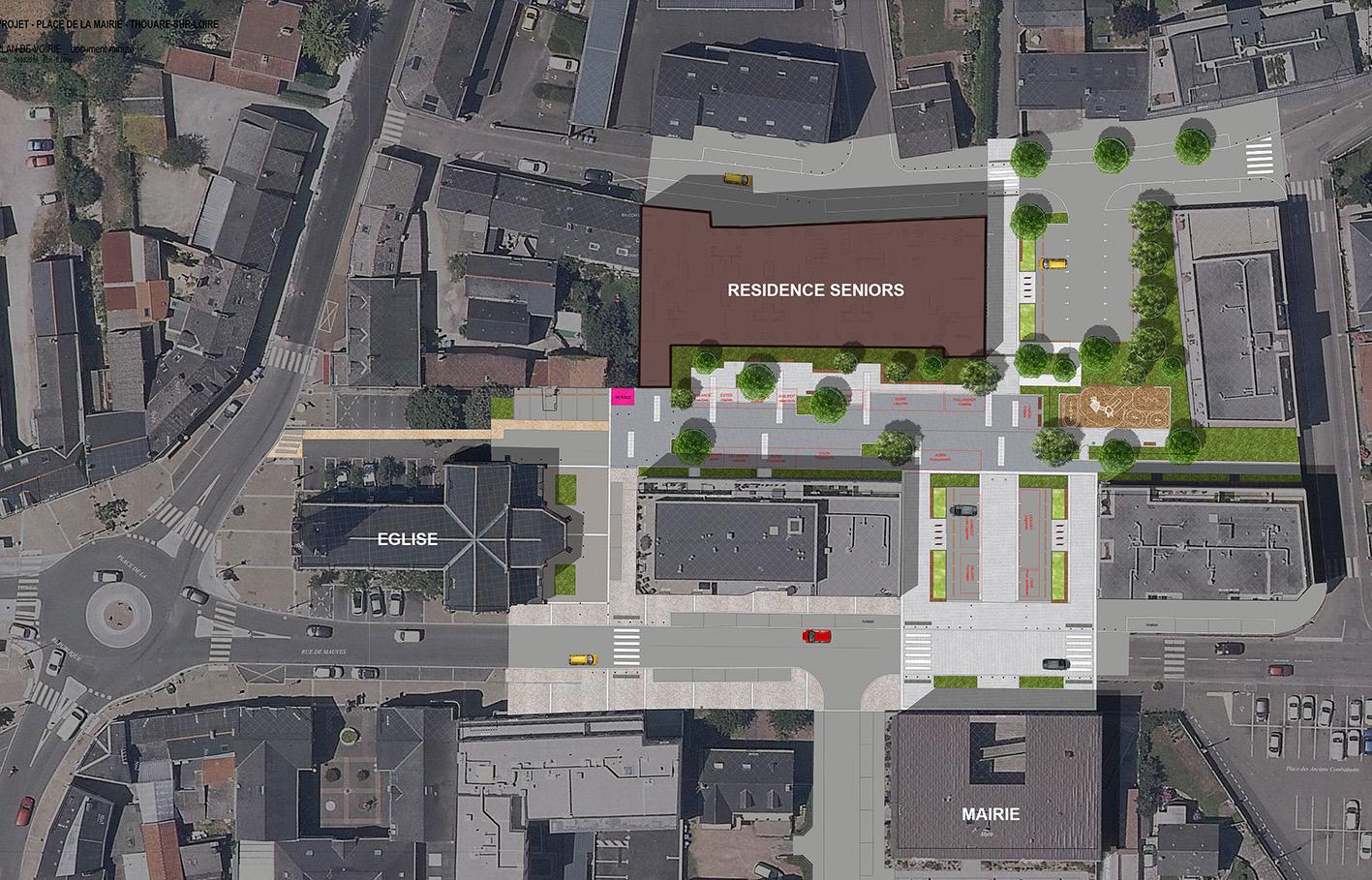 Aménagement espace public - projet Città.
