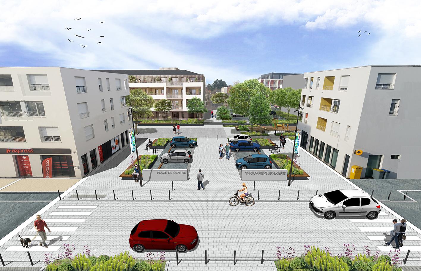 Aménagement espace public - Città - Loire Atlantique