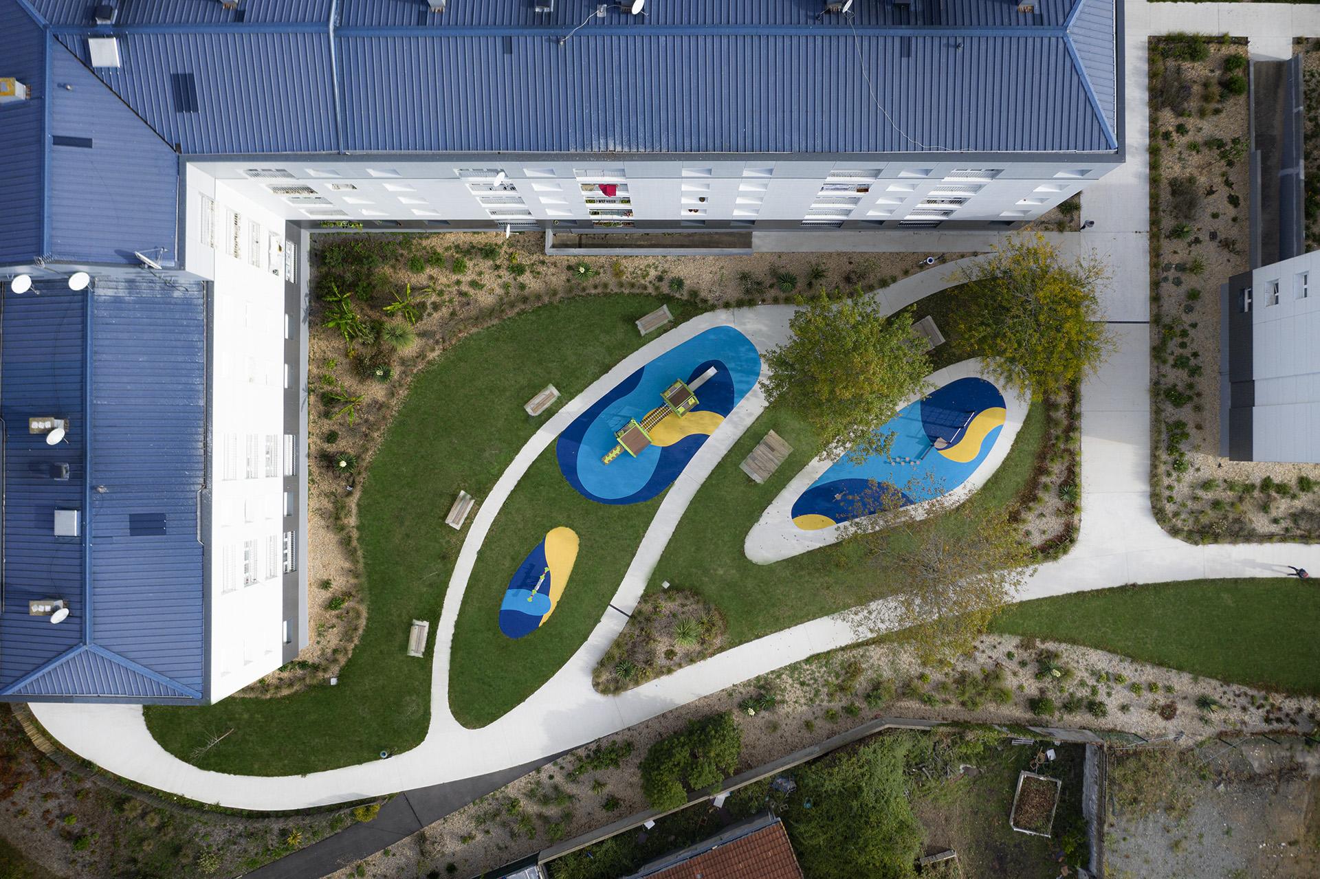 Aménagement urbain quartier Bellevue - vue aérienne - Città Urbanisme & paysage